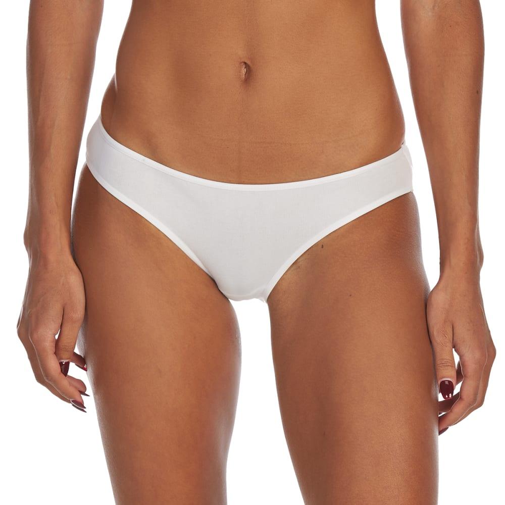 RENE ROFE Juniors' Cotton/Spandex Bikini Briefs - WHT4-WHITE