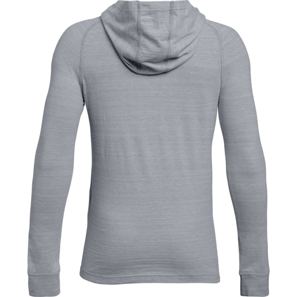 UNDER ARMOUR Men's MVP Tri-Blend Pullover Hoodie - OVERCASTGRY/BLUE-941