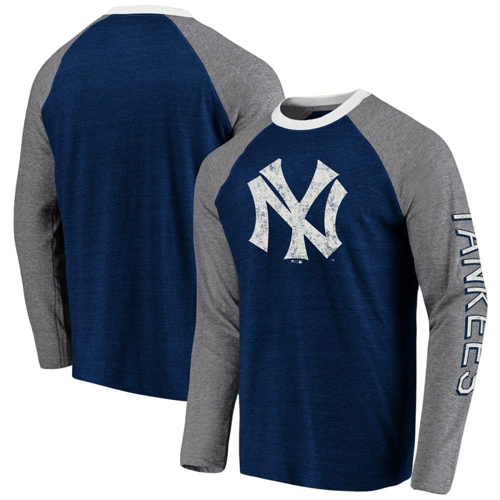 NEW YORK YANKEES Men's Classics Raglan Long-Sleeve Tee - NAVY