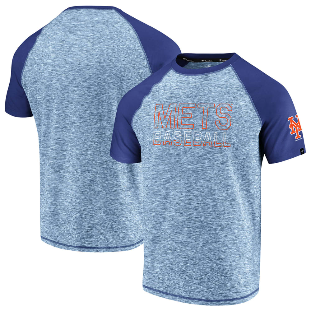 NEW YORK METS Men's Made to Move Raglan Short-Sleeve Tee - ROYAL BLUE