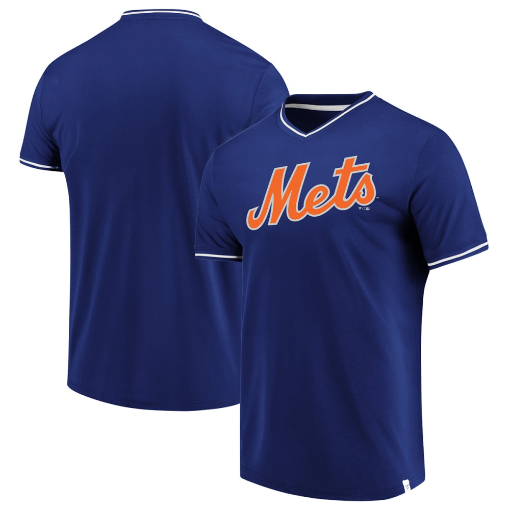 NEW YORK METS Men's True Classics V-Neck Short-Sleeve Jersey - ROYAL BLUE