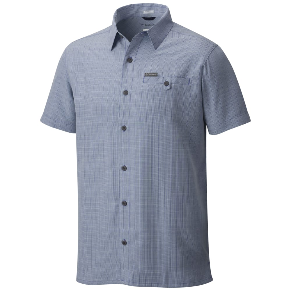 COLUMBIA Men's Declination Trail II Short-Sleeve Shirt - STEEL-414