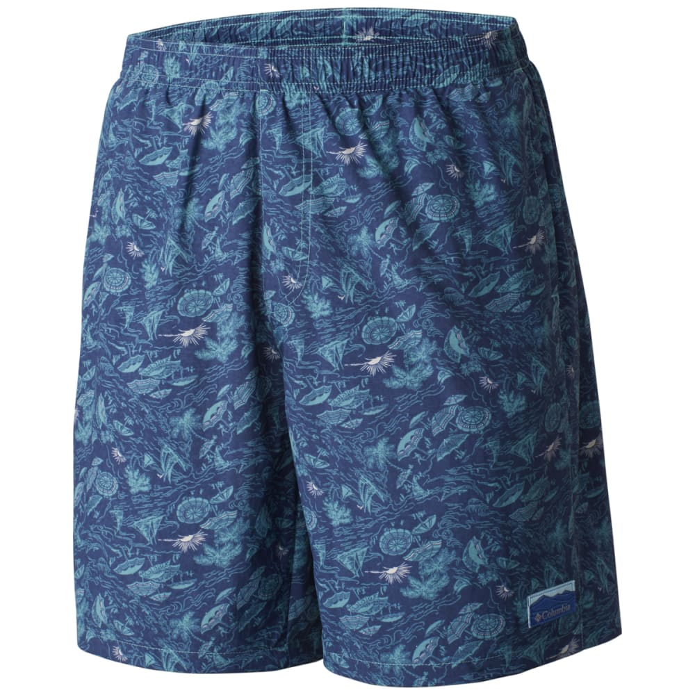 COLUMBIA Men's Big Dippers Water Shorts - TEAL UMBRELLA-962