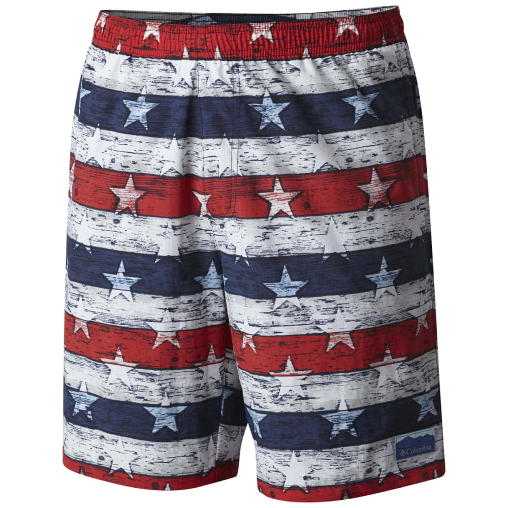 COLUMBIA Men's Big Dippers Water Shorts - NVY STR & STRP-464