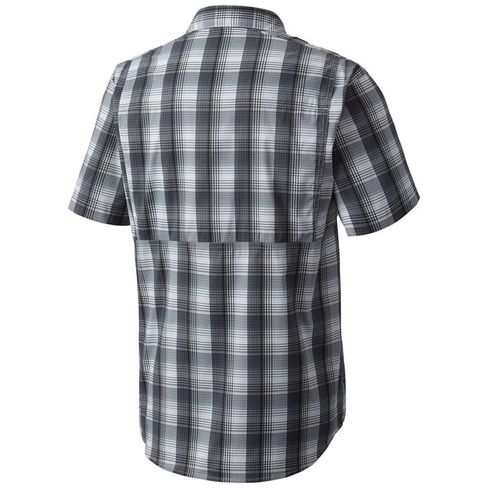 COLUMBIA Men's Silver Ridge Lite Plaid Short-Sleeve Shirt - 011-SHARK PLAID