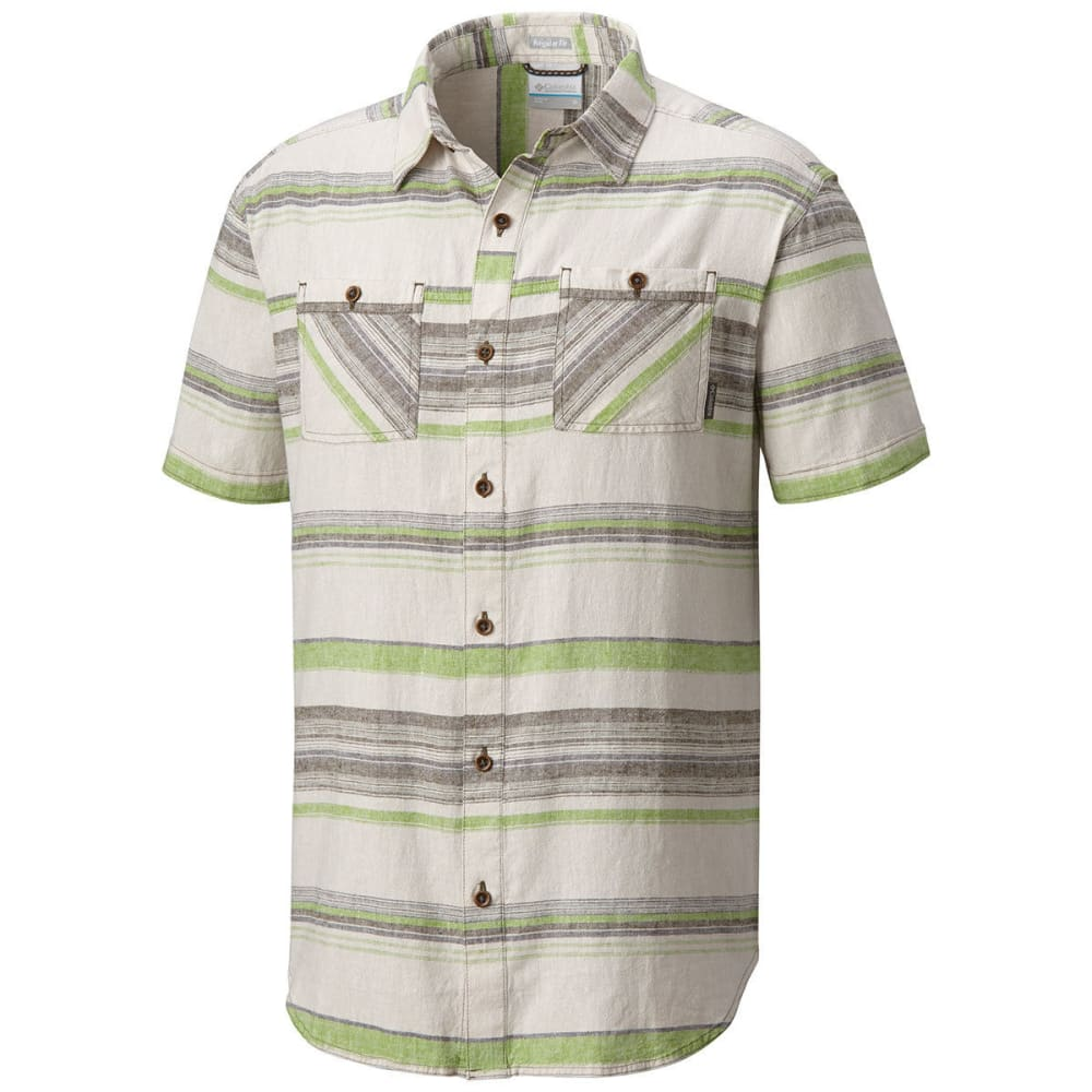 Columbia Men's Southridge Yard-Dye Short-Sleeve Shirt - Green, XL