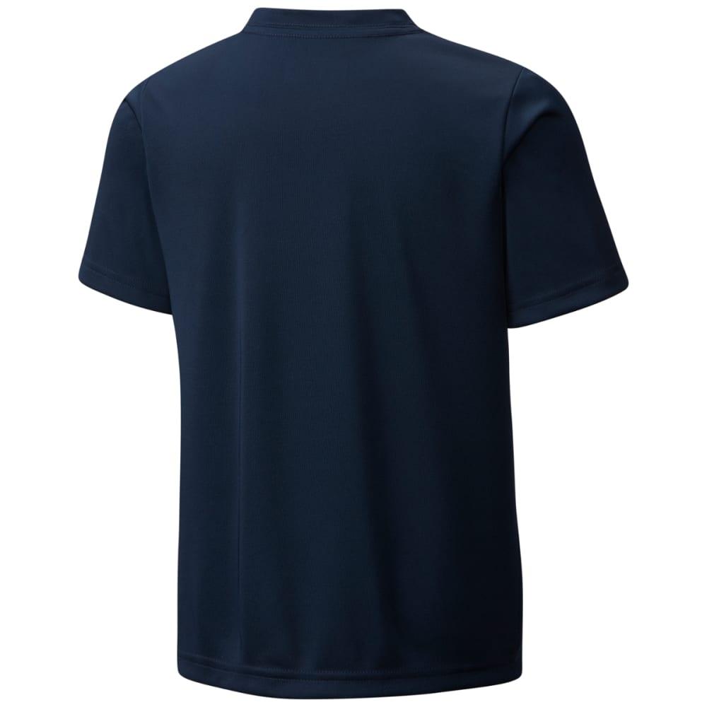 COLUMBIA Boys' Badge N' Flag Short Sleeve Shirt - COLL NVY-464