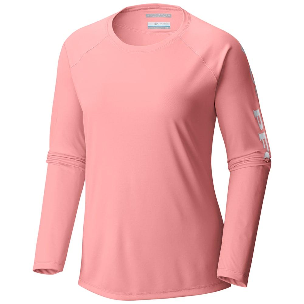 COLUMBIA Women's PFG Tidal Tee II Long-Sleeve Shirt - 884-TIKI PINK LOGO
