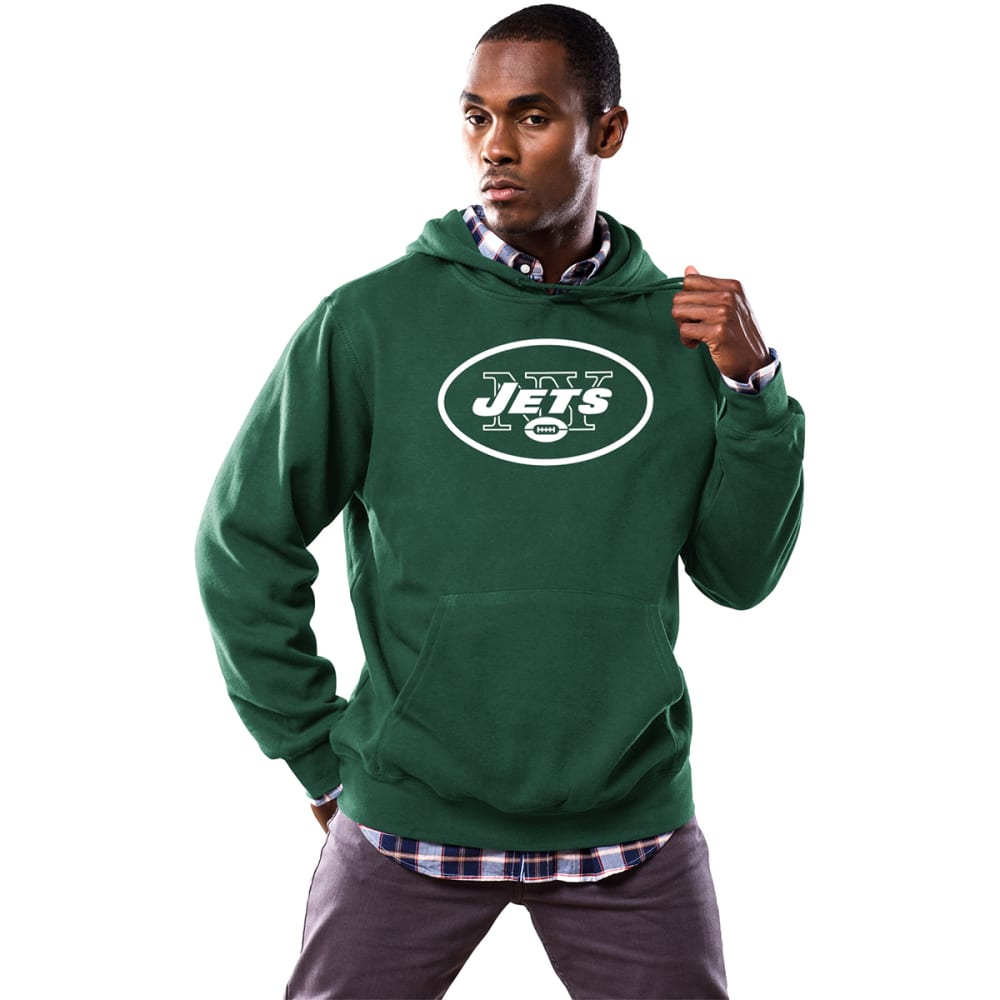 NEW YORK JETS Men's Tek Patch Pullover Hoodie - DARK GREEN