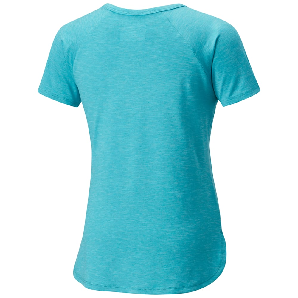 COLUMBIA Big Girls' Silver Ridge II Short-Sleeve Tee - 732-GEYSER HTR