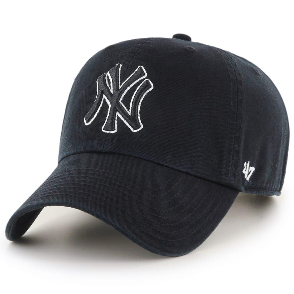 NEW YORK YANKEES Men's 47 Brand Adjustable Clean Up Hat - BLACK