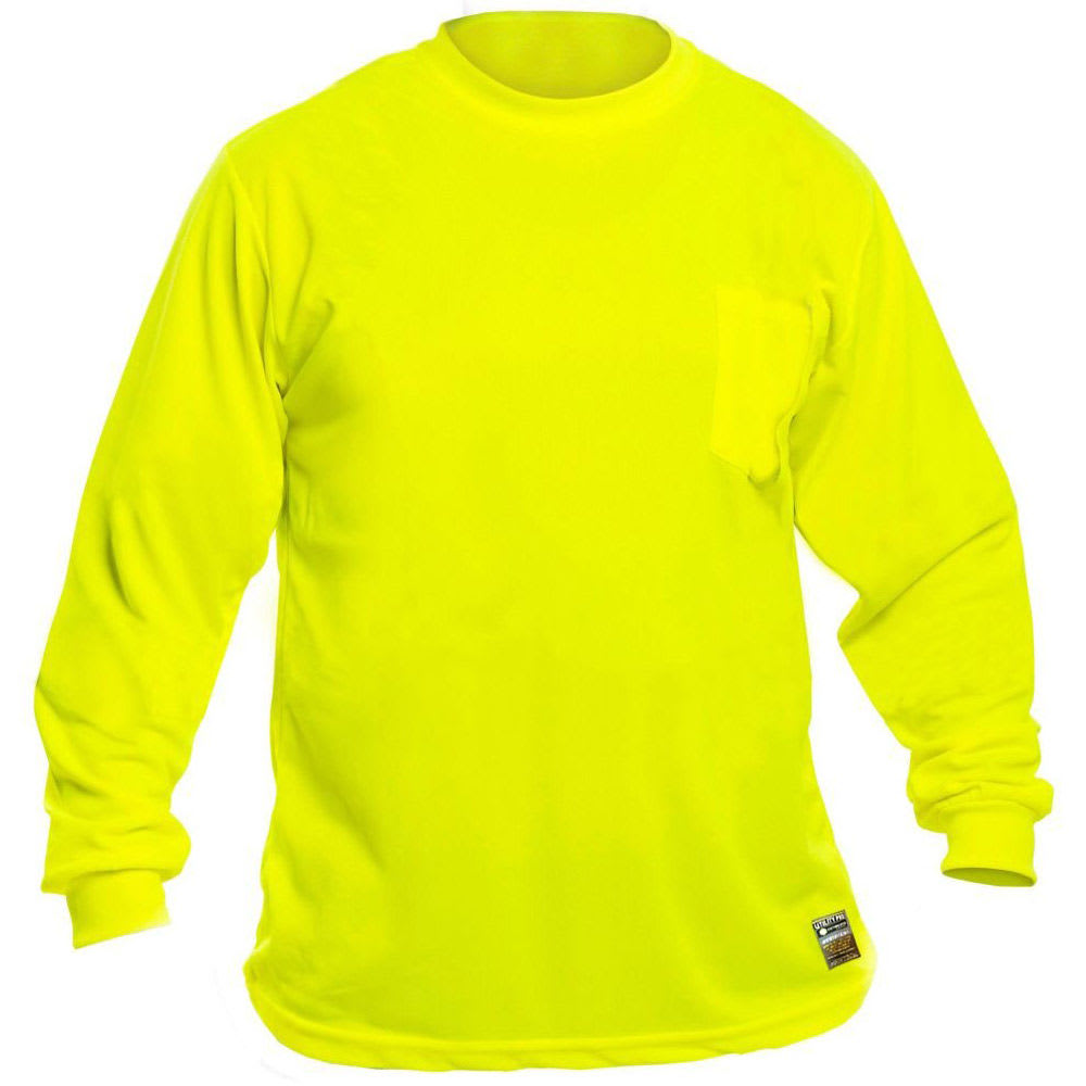 UTILITY PRO Men's Long-Sleeve Perimeter Insect Guard Tee - FLORESSENT YELLOW