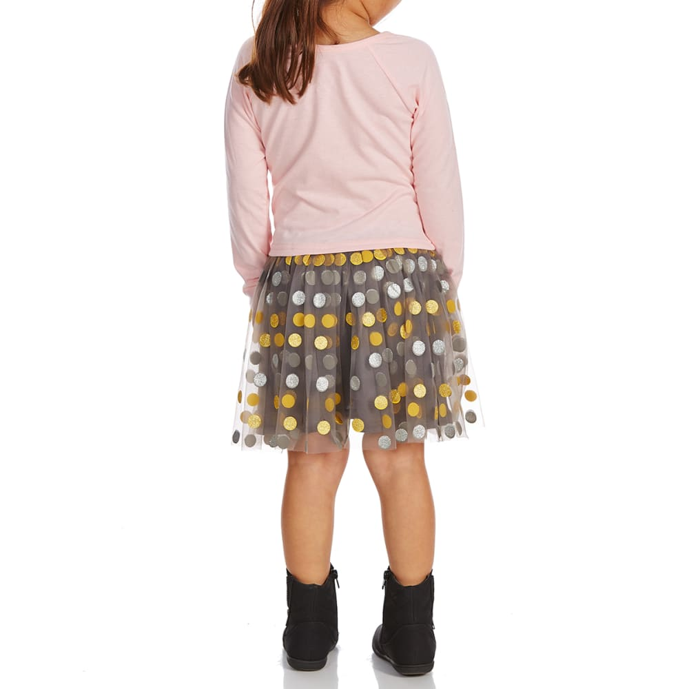 COLD CRUSH Little Girls' Minnie Mouse Long-Sleeve Dress - ROUGE PINK