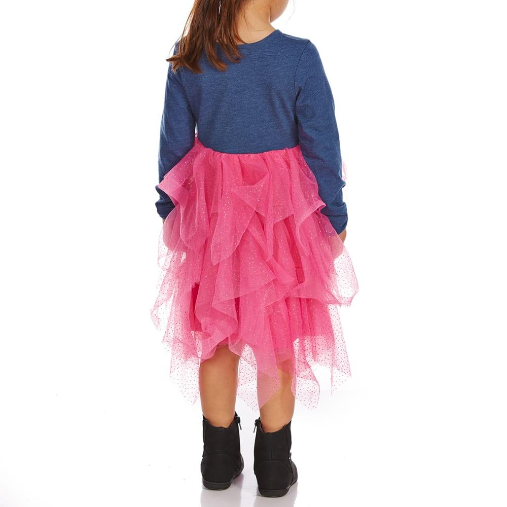 COLD CRUSH Little Girls' My Little Pony Long-Sleeve Dress - HEATHER DENIM BLUE