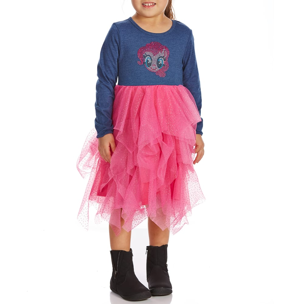 COLD CRUSH Little Girls' My Little Pony Long-Sleeve Dress - HEATHER DENIM BLUE