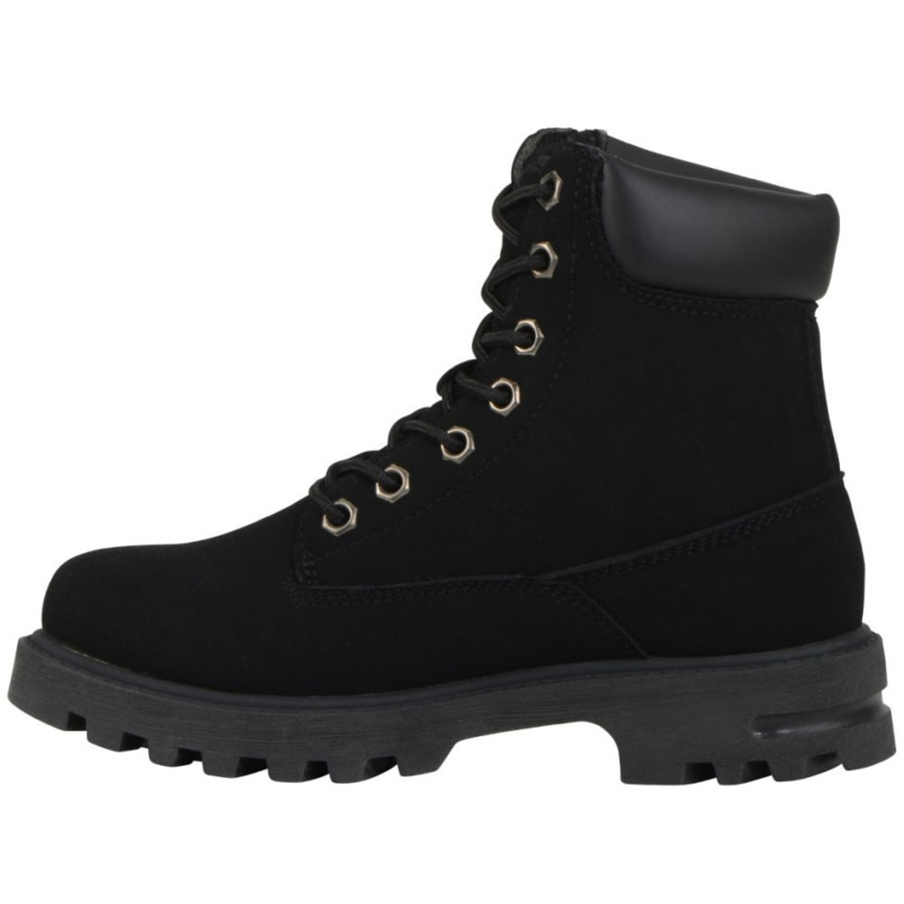LUGZ Kids' Empire Hi Grade School Work Boots - BLACK