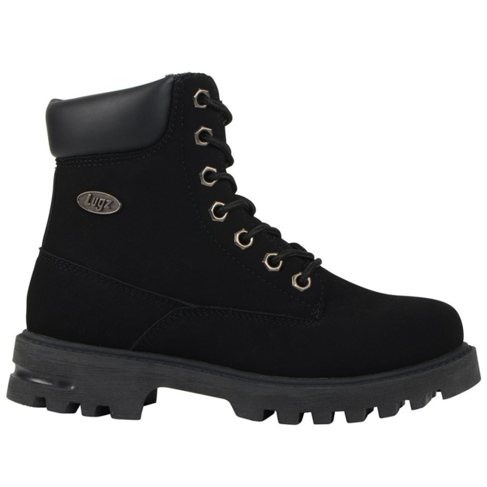 LUGZ Kids' Empire Hi Grade School Work Boots - BLACK