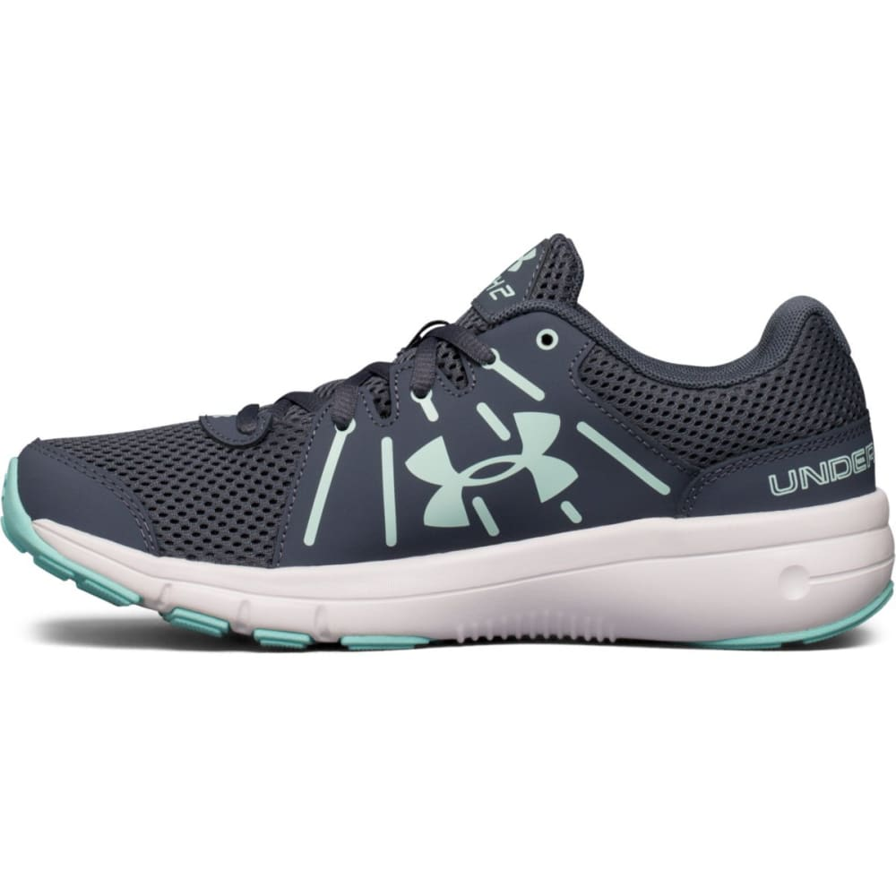UNDER ARMOUR Women's Dash RN 2 Running Shoes, Grey/Mint - GREY