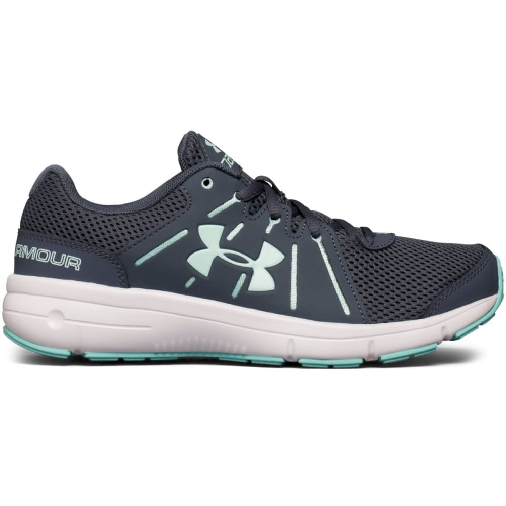 UNDER ARMOUR Women's Dash RN 2 Running Shoes, Grey/Mint - GREY
