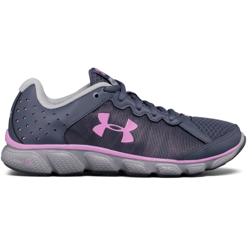 UNDER ARMOUR Women's Micro G Assert 6 Running Shoes, Gray/Icelandic Rose - GREY