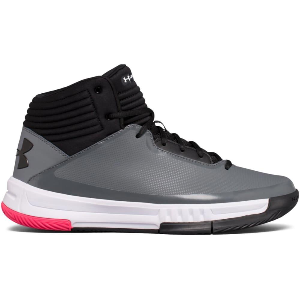 UNDER ARMOUR Men's Lockdown 2 Basketball Shoes, Blue/Grey/Black - BLUE