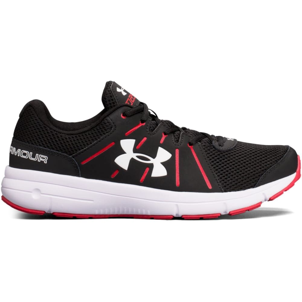 UNDER ARMOUR Men's Dash RN 2 Running Shoes, Black/Red - BLACK