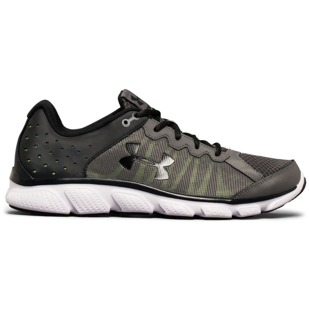 UNDER ARMOUR Men's Micro G Assert 6 Running Shoes, Grey/Black/Lime - GREY