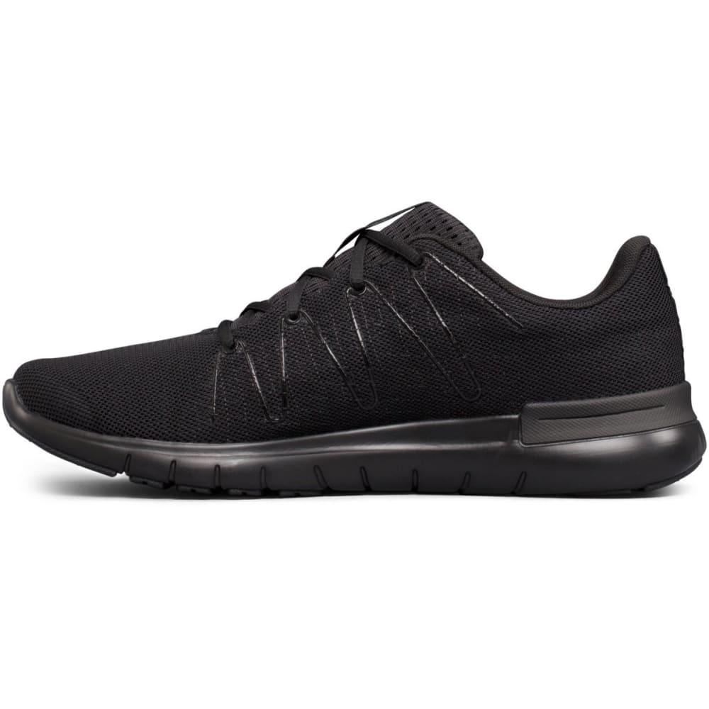 UNDER ARMOUR Men's Thrill 3 Running Shoes, Triple Black - BLACK