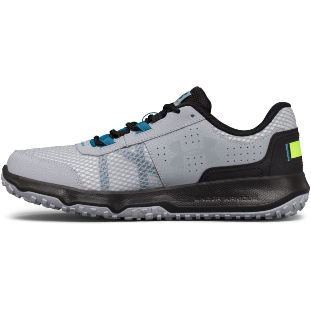 UNDER ARMOUR Men's UA Toccoa Trail Running Shoes, Grey/Black/Blue - GREY