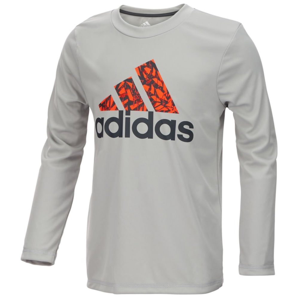 ADIDAS Boys' Badge of Sport Long-Sleeve Tee 4