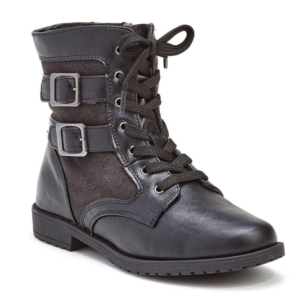 RACHEL SHOES Girls' Arlington Two-Buckle Boots, Black - BLACK