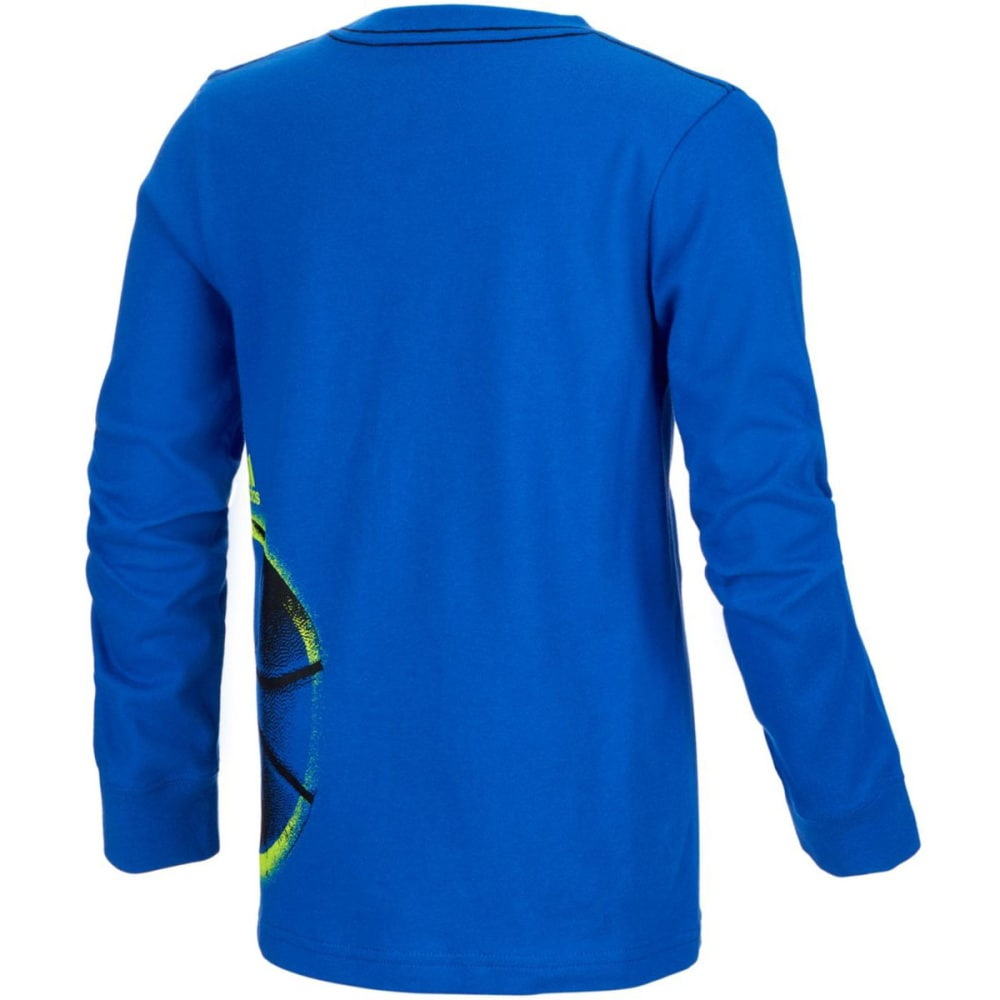 ADIDAS Boys' All Sport Wrap Graphic Long-Sleeve Tee - BLUE-AB20