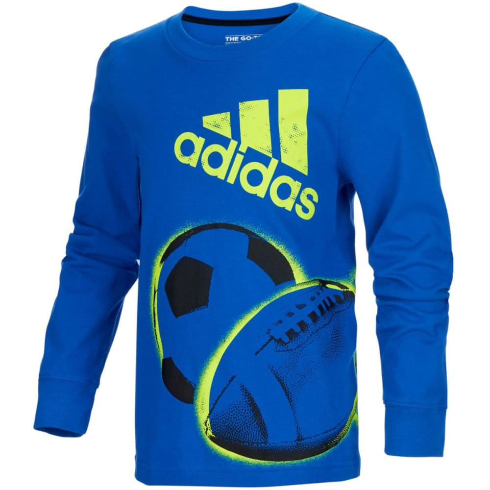 Adidas Boys All Sport Wrap Graphic Long-Sleeve Tee - Blue, 4