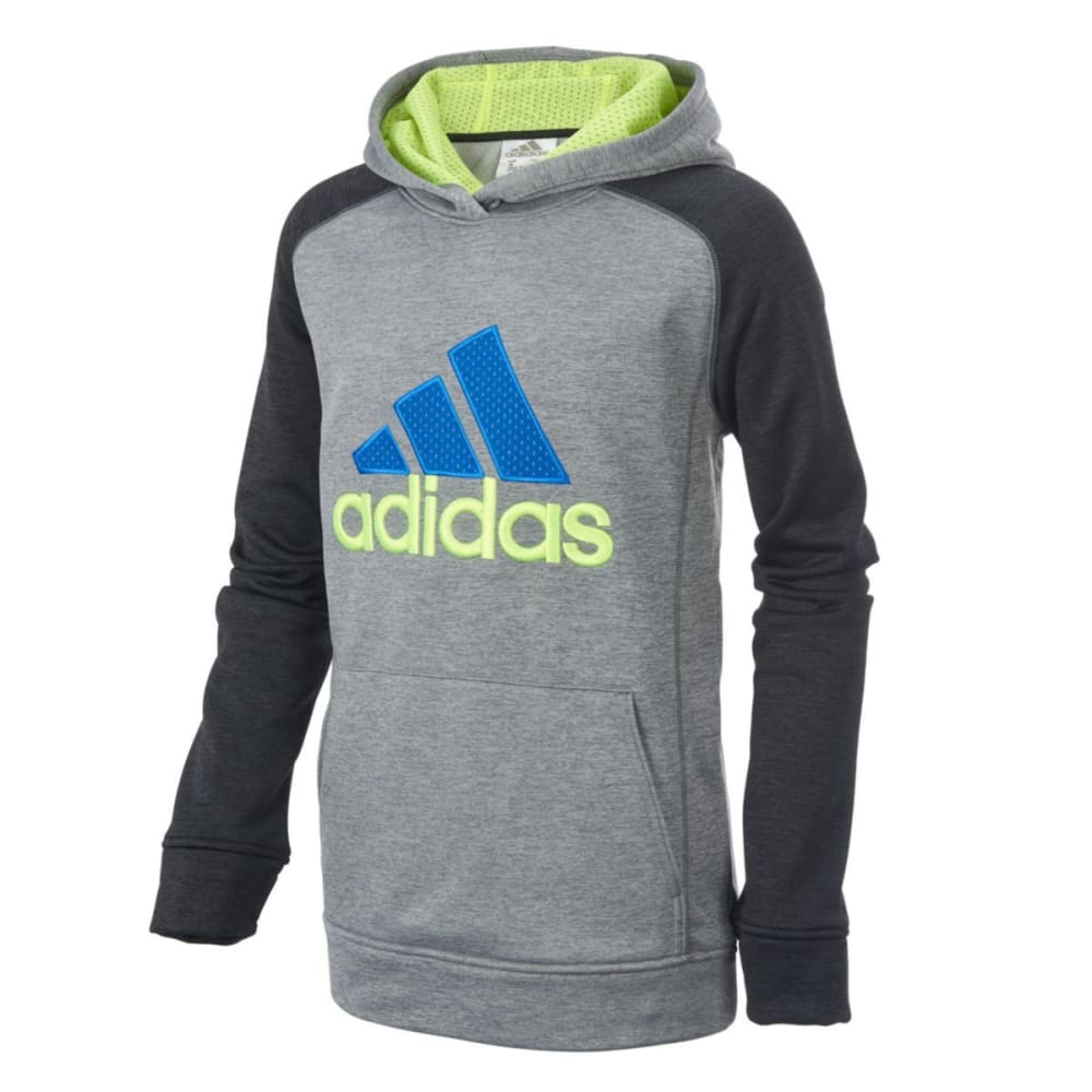 ADIDAS Boy's Digi Fusion Pullover Sweatshirt - BLACK HTR-K01H