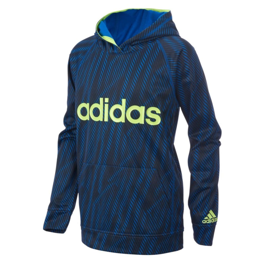 Adidas Little Boys Helix Vibe Fleece Pullover Hoodie - Blue, 5