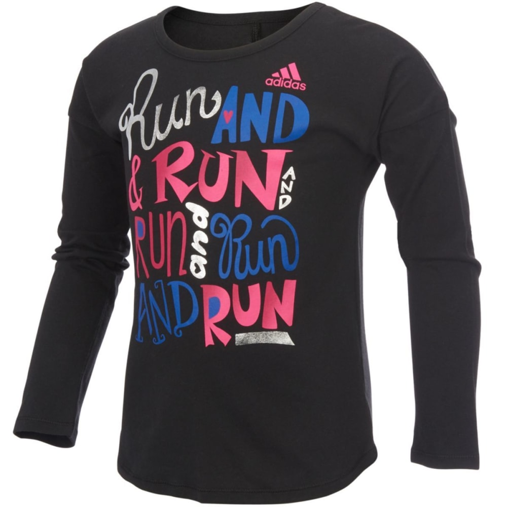 ADIDAS Girls' Heart and Hustle Tee - BLACK-K01