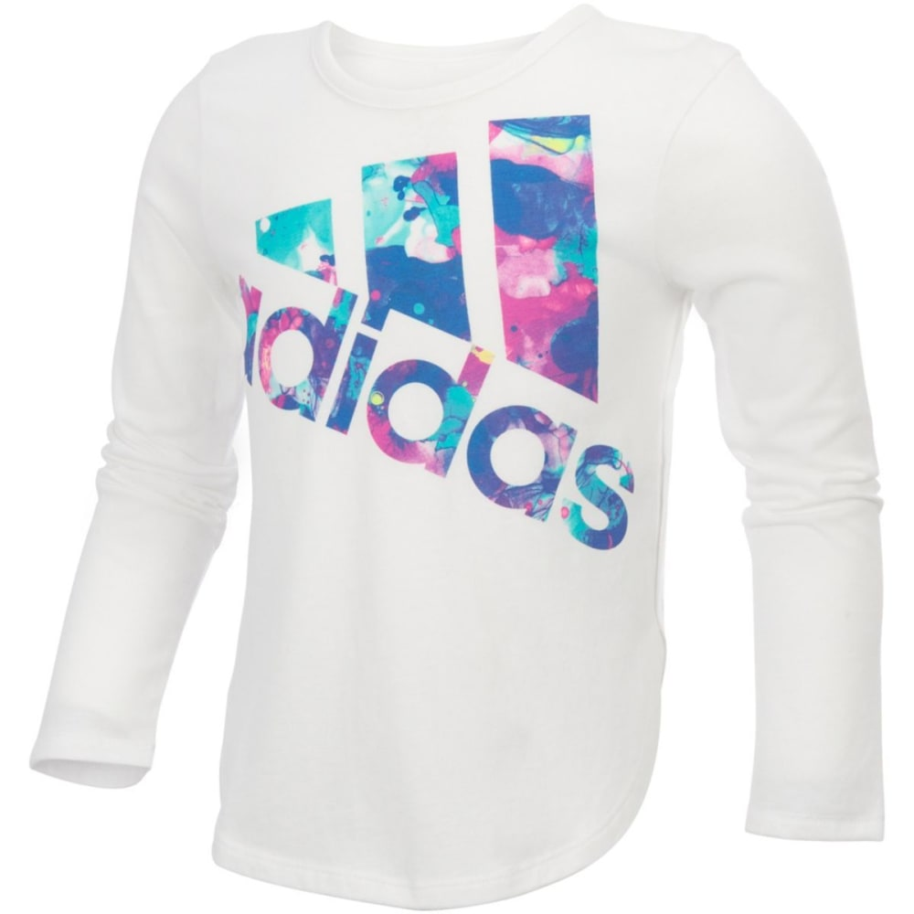 Adidas Girls All Star Long Sleeve Tee - White, 4