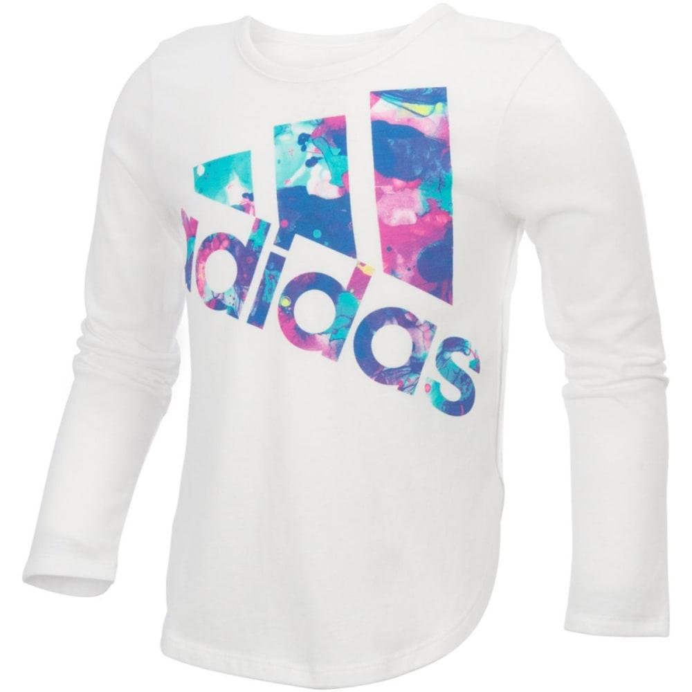 ADIDAS Girls' All Star Long Sleeve Tee - WHITE-W01