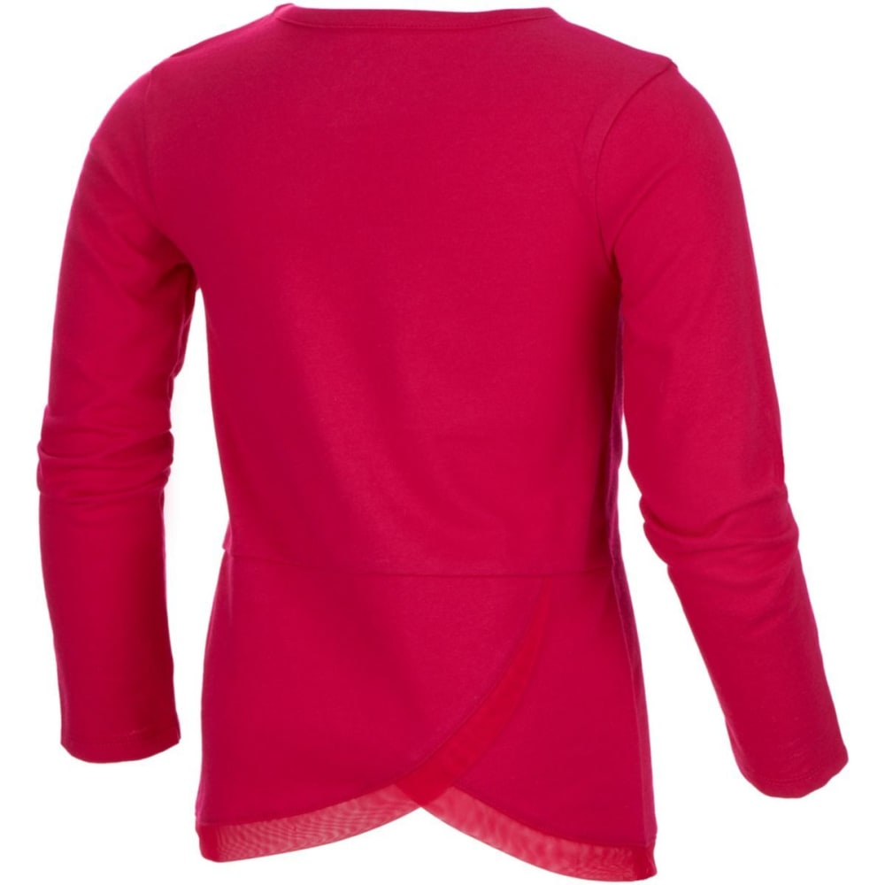 ADIDAS Girls' Win Like A Girl Long-Sleeve Tee - BOLD PINK-AP192