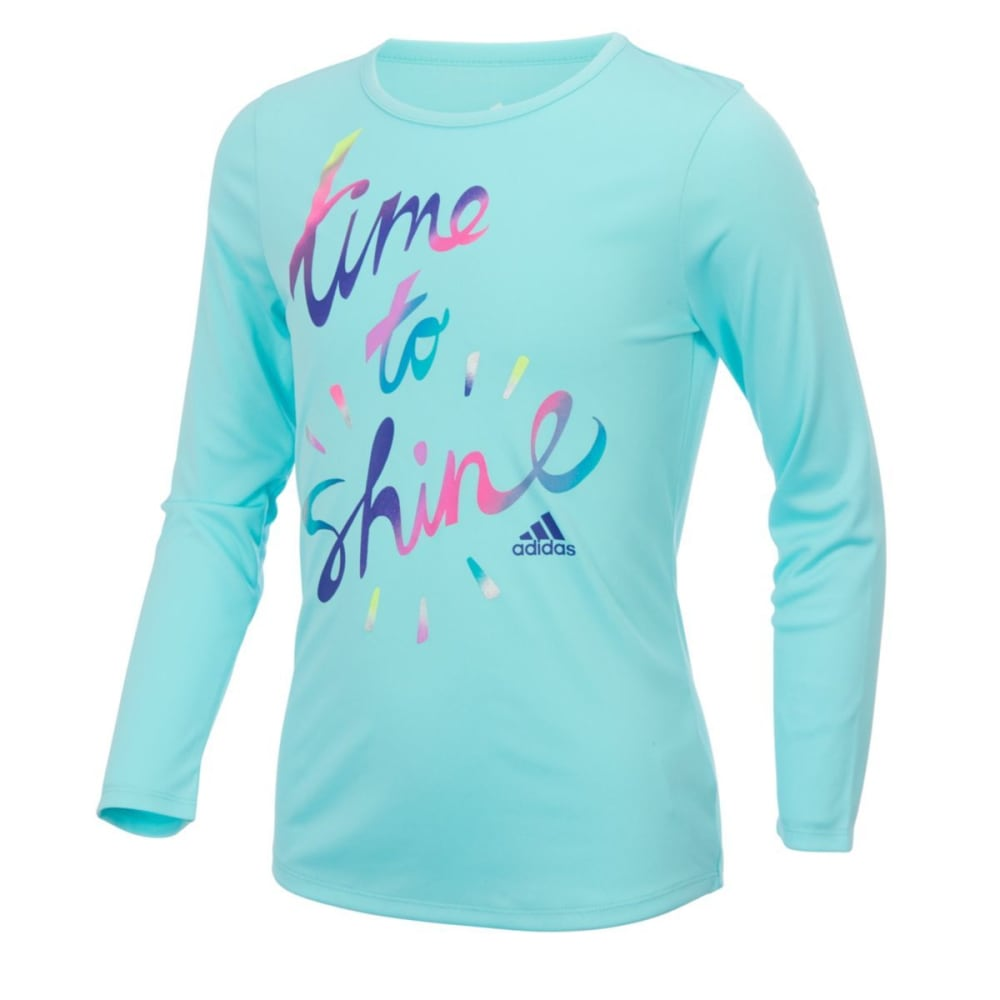 Adidas Girls Just Shine Long-Sleeve Tee - Blue, 4