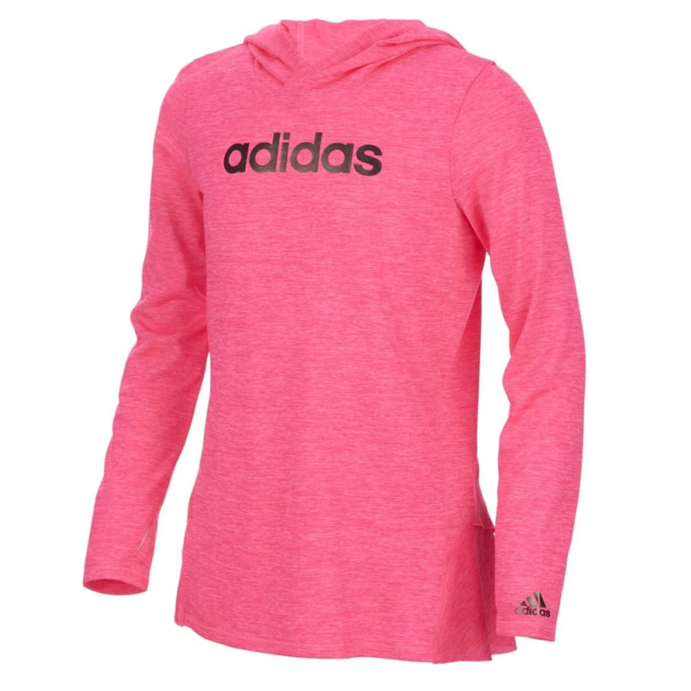 ADIDAS Girls' Hustle Your Bustle Pullover Hoodie - SOLAR PINK-AP02H