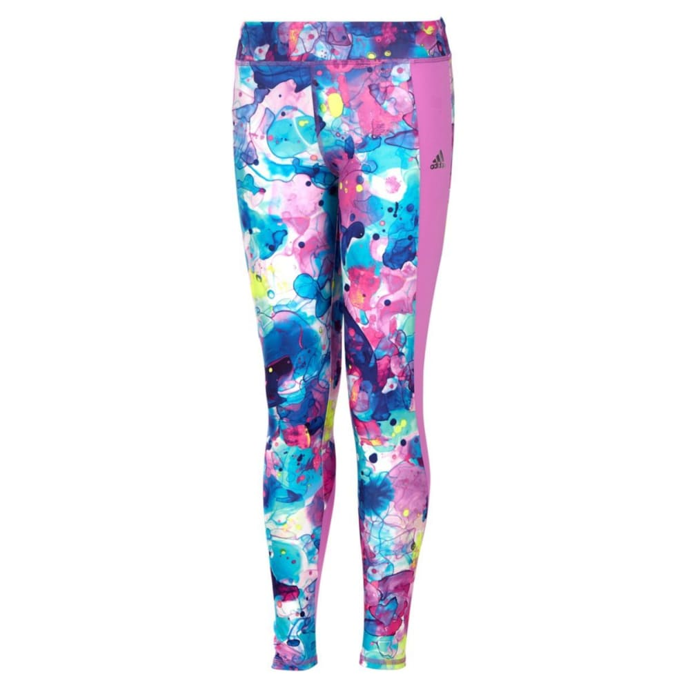ADIDAS Girls' Go With The Flow Training Tights - JODO INK CAMO-P283