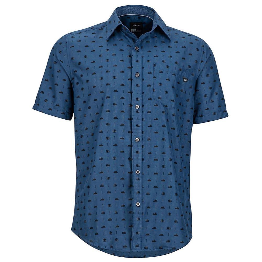Marmot Men's Notus Short-Sleeve Shirt - Blue, S