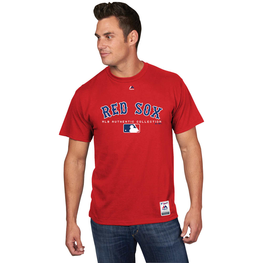 BOSTON RED SOX Men's Authentic MLB Team Drive Short-Sleeve Tee - RED