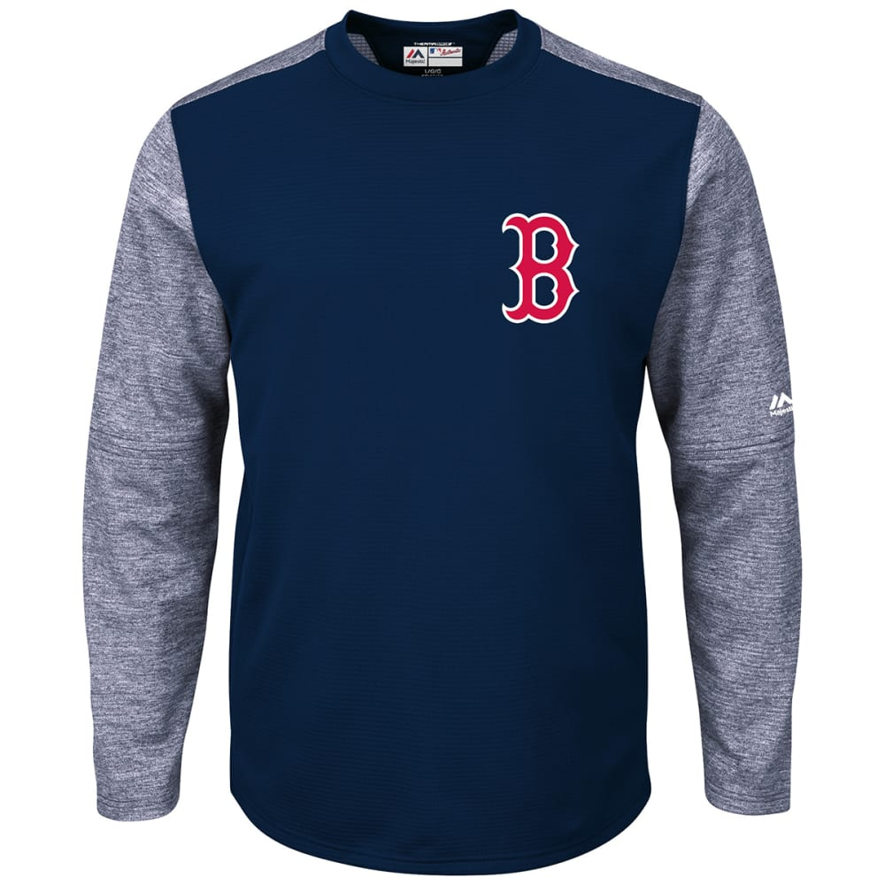 BOSTON RED SOX Men's Authentic Collection On-Field Tech Fleece Pullover - NAVY