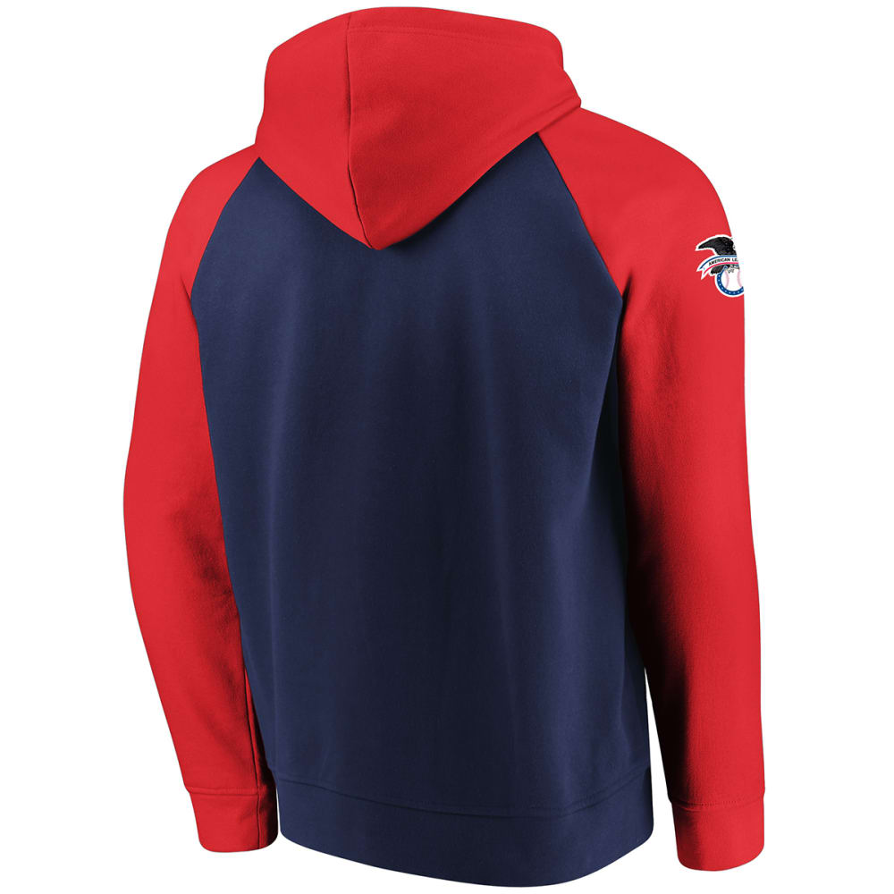 BOSTON RED SOX Men's With Attitude Raglan Pullover Hoodie - NAVY