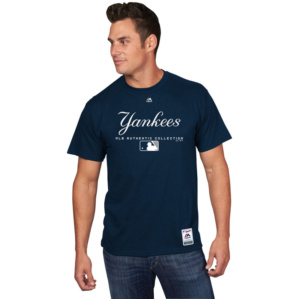 NEW YORK YANKEES Men's Authentic MLB Team Drive Short-Sleeve Tee - NAVY