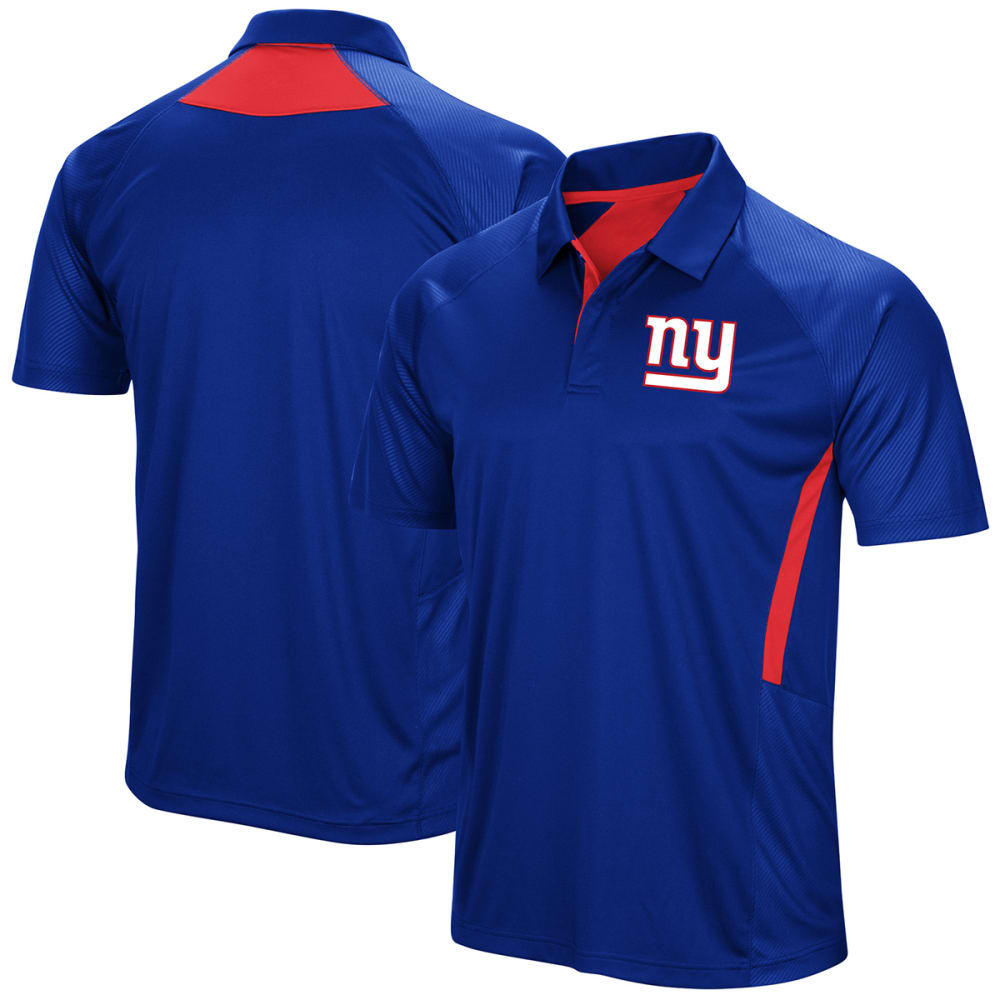NEW YORK GIANTS Men's Game Day Club Poly Short-Sleeve Polo Shirt - ROYAL BLUE
