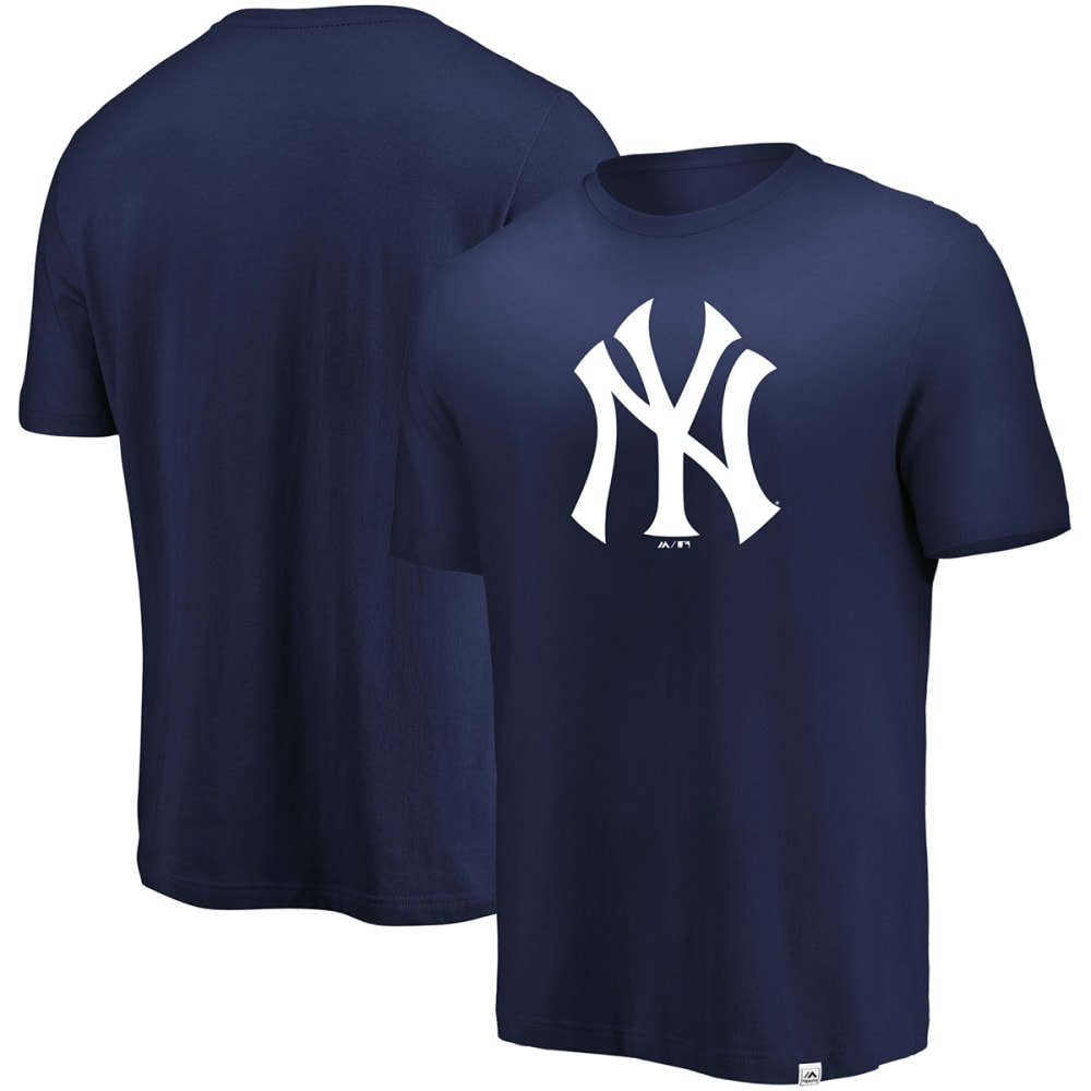 NEW YORK YANKEES Men's Precision Play Tri-Blend Short-Sleeve Tee - NAVY