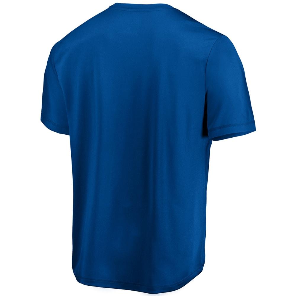 NEW YORK GIANTS Men's Edge Rush Poly Short-Sleeve Tee - ROYAL BLUE